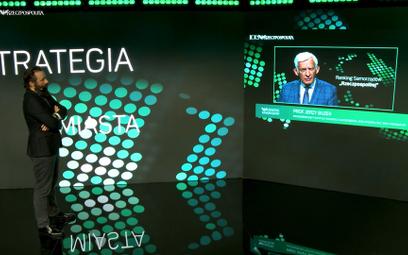 Gala Rankingu Samorządów 2020. Na zdjęciu prowadzący galę Cezary Szymanek, redaktor naczelny rp.pl o