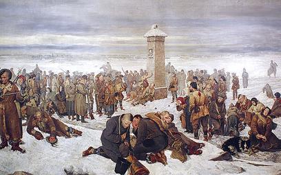 """Obraz Aleksandra Sochaczewskiego """"Pożegnanie Europy"""" (1894 r.)"""