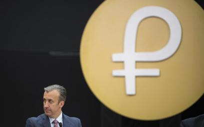 Tareck El Aissami, wiceprezydent Wenezueli podczas prezentacji nowej kryptowaluty