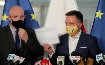 Michał Gramatyka i Szymon Hołownia