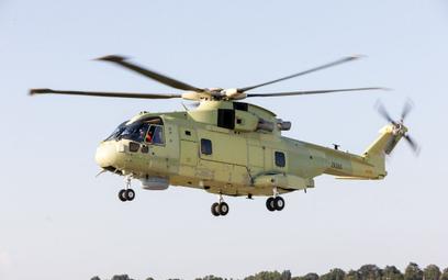 Pierwszy AW101 dla Polski testowany w locie