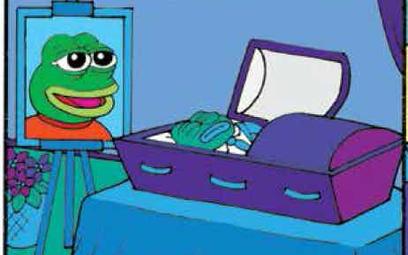 """Żaba Pepe """"zabita"""" przez swojego twórcę"""