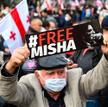 Protest w obronie Saakaszwilego, Tbilisi, 14 października
