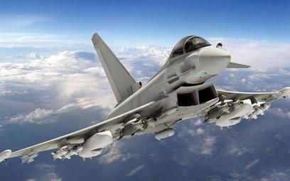 "Eurofighter to bardzo udany samolot zaliczany do generacji ""4+"". Rys. Eurofighter GmbH."