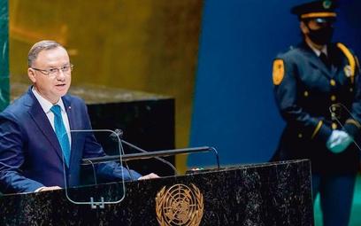 Prezydent Andrzej Duda na sesji Zgromadzenia Ogólnego ONZ