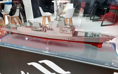 Model fregaty F-100PL oferowanej przez Navantię w programie Miecznik.