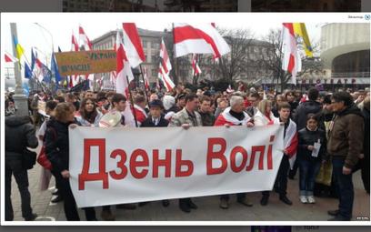 Dzień Woli w Mińsku (screen ze strony Radio Svaboda www.svaboda.org)