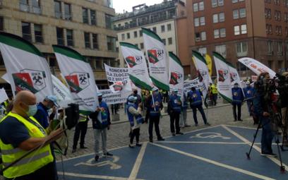 Górnicy z PGE protestowali w Warszawie