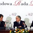 Władysław Stasiak, prezydent Lech Kaczyński i Paweł Wypych podczas posiedzenia Narodowej Rady Rozwoj