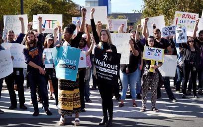 Protest pracowników Alphabet, spółki-matki Google`a z listopada 2019 roku.
