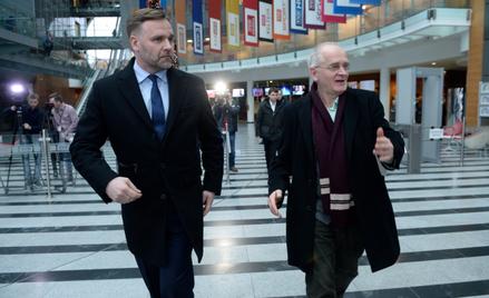 Minister skarbu państwa Dawid Jackiewicz oraz wiceminister kultury i dziedzictwa narodowego Krzyszto