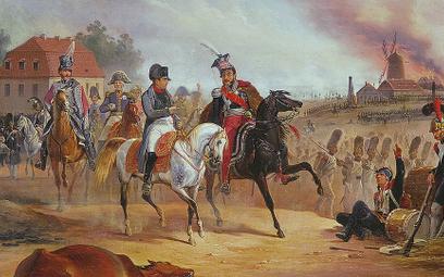 Spotkanie cesarza Napoleona I iksięcia Józefa Poniatowskiego 16 października 1813 r. pod Lipskiem.