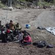 Imiganci na plaży w Turcji