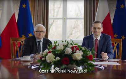 Jarosław Kaczyński i Mateusz Morawiecki zaprezentowali hasła Nowego Ładu w filmiku promocyjnym