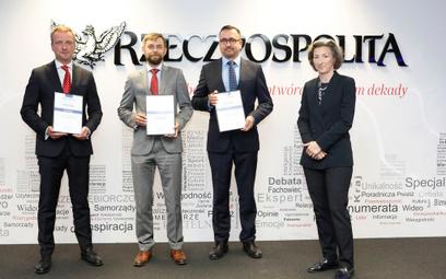 Od prawej w-ce prezes Gremi Media S.A., Maria Wysocka, Marek Jarocki (EY), Marcin Sidelnik (PwC), Ja