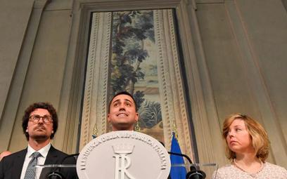 Czołowi politycy Ruchu Pięciu Gwiazd, w środku lider Luigi Di Maio.