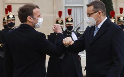 Przywiązanie do Unii połączyło Morawieckiego i Macrona