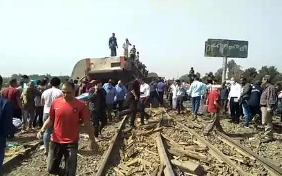 Wykolejenie pociągu w Egipcie. Rannych ok. 100 osób