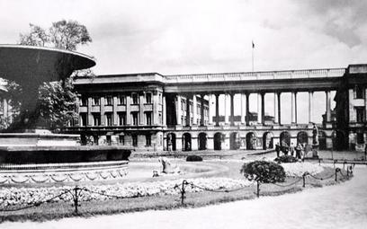 Pałac Saski na fotografii z początku XX wieku