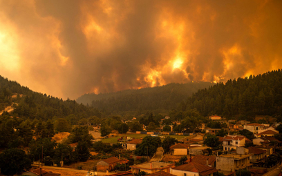 Pożar na wyspie Eubea zbliża się do miejscowości Gouves