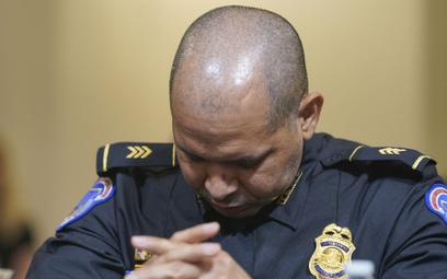 Aquilino Gonell, funkcjonariusz z policji Kapitolu, musiał być operowany z powodu obrażeń odniesiony