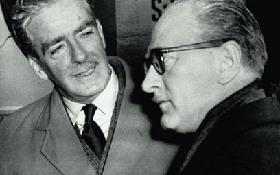 Premierzy Wielkiej Brytanii i Francji Anthony Eden i Guy Mollet, Londyn, marzec 1956 r.
