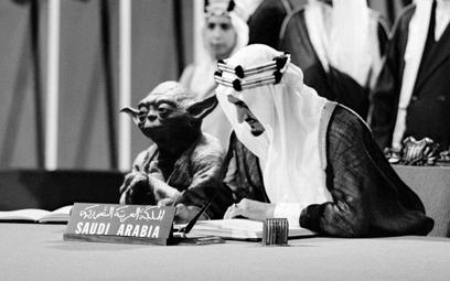 Arabia Saudyjska: Mistrz Yoda w podręczniku obok króla Fajsala