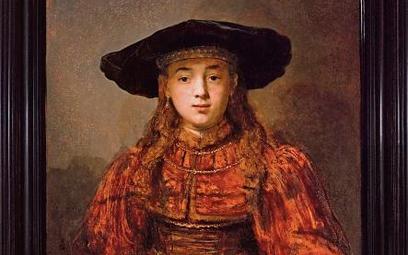 """""""Dziewczyna w ramie obrazu"""" Rembrandta, zwana też """"Żydowską narzeczoną"""""""