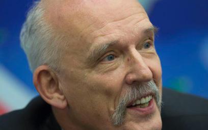 Janusz Korwin-Mikke krytykuje Kukiz'15 i chwali .Nowoczesną Ryszarda Petru