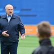 Aleksander Łukaszenko na otwarciu ośrodka piłkarskiego Dynama Mińsk