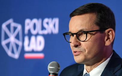 "Premier Mateusz Morawiecki promuje ""Polski ład"" PiS"