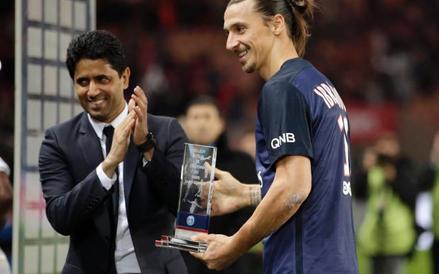Szef PSG Nasser al-Khelafi i jego największy skarb – Zlatan Ibrahimović