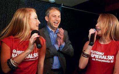 Grzegorz Napieralski według ekspertów prowadził najaktywniejszą kampanię. Na zdjęciu podczas wczoraj