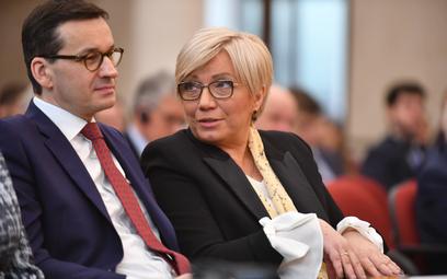Premier Mateusz Morawiecki i prezes Trybunału Konstytucyjnego Julia Przyłębska