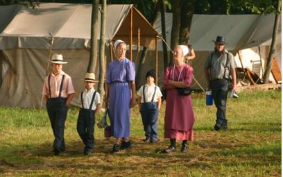 Kadr z dokumentu Sekretne życie Amiszów