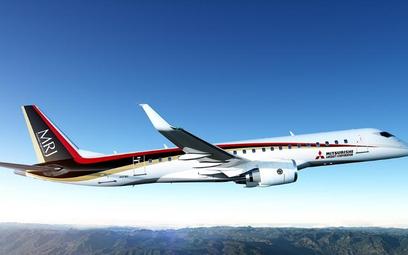 Samolot Mitsubishi znów później