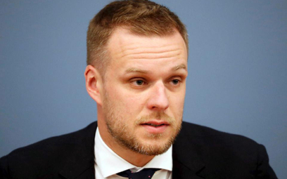 Gabrielius Landsbergis,  szef dyplomacji Litwy