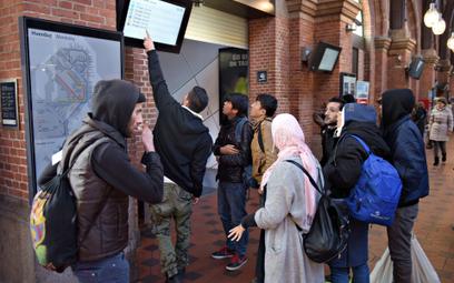 Imigranci na dworcu w Kopenhadze