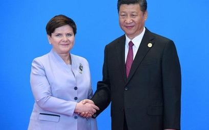 Polska premier Beata Szydło i przywódca Chin Xi Jinping wczoraj w Pekinie.