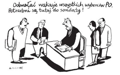 Komentarz rysunkowy. Odwołać wakacje wyborców PO