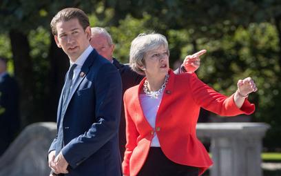 Sebastian Kurz, kanclerz Austrii i Theresa May, premier Wielkiej Brytanii