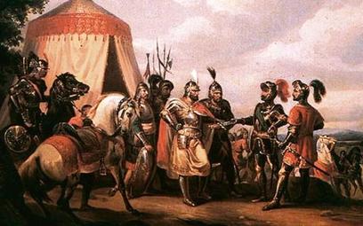 """""""Przed bitwą pod Grunwaldem"""", obraz Feliksa Sypniewskiego z 1852 r."""