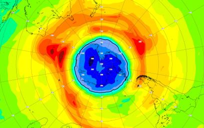 Dziura ozonowa nad biegunem południowym przekroczyła rozmiary Antarktydy