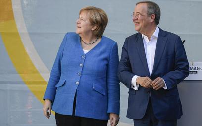 Armina Lascheta wsparła na ostatnim wiecu wyborczym w Akwizgranie kanclerz Angela Merkel