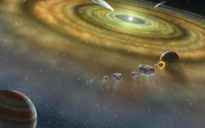 Gwiazda i planety w momencie powstawania. Tak samo narodził się Układ Słoneczny
