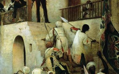 Ostatnie chwile brytyjskiego generała Gordona w Chartumie, mal. George William Joy, 1885