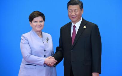 Premier Beata Szydło oraz prezydent Chin Xi Jinping.