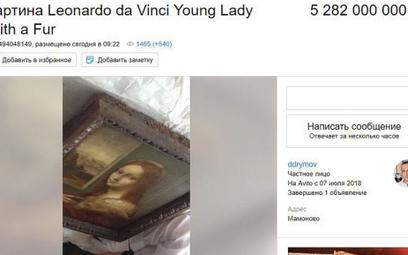 """Sprzedał obraz da Vinci poniżej wartości. """"Bo mógł"""""""