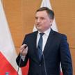 Minister sprawiedliwości Zbigniew Ziobro podczas konferencji prasowej w siedzibie Prokuratury Krajow