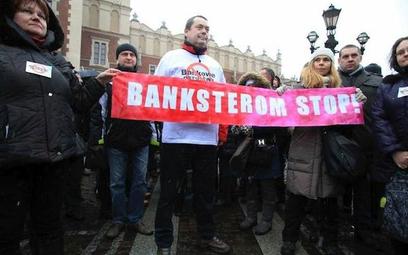 W styczniu w Krakowie odbył się protest ludzi, którzy zaciągnęli kredyty we frankach